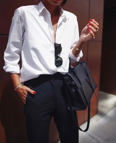 Best How To Wear Spring White Shirts Ideas Business Outfit Damen, Business Outfits, Business Fashion, Business Casual, White Shirt Outfits, White Shirts, White Blazers, Look Fashion, Fashion Outfits