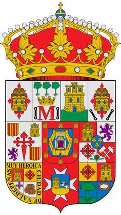 Escudo de la Provincia de Ciudad Real - España. Es una provincia de España situada en la Comunidad Autónoma de Castilla-La Mancha. Tiene una población de 530.175 habitantes y 19.813 km² de superficie repartidos entre 102 municipios. Su capital provincial es Ciudad Real. Limita al norte con la provincia de Toledo, al noreste con la provincia de Cuenca, al este con la provincia de Albacete, al sur con las provincias de Córdoba y Jaén y al oeste con la provincia de Badajoz.