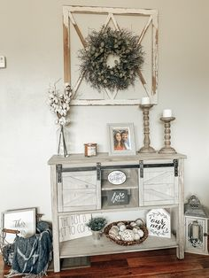 Kirkland Home Decor, Entry Tables, The Best Is Yet To Come, Farmhouse Livingrooms, Console Table, Rustic Decor, Sweet Home, Gallery Wall, Farmhouse Kitchens