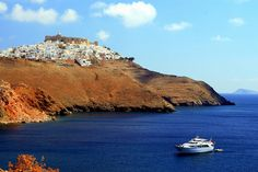 https://flic.kr/p/58g8jW | Sea and village on a hill | Hill village and sea, Astypalea Island, Dodecanese, Greece