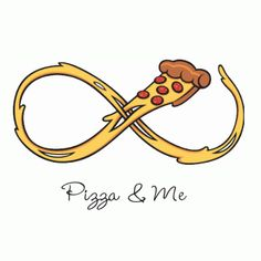 You like pizza and crop tops, I can tell. Me too! I could eat pizza every day .for infinity. This crop features some super stringy cheese stretched out into the infinity (aka forever) symbol, printed onto a trendy crop tank top. Pizza Tattoo, Pizza Kunst, Pizza Quotes, Tumblr Transparents, Pizza Branding, Pizza Life, Pizza Art, Pizza Food, Pizza Pizza