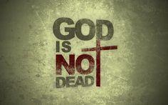 God's not dead, He's surely alive! Loved God's Not Dead Love The Lord, God Is Good, Gods Love, Lord And Savior, God Jesus, Christian Life, Christian Quotes, Christian Humor, Typographie Inspiration