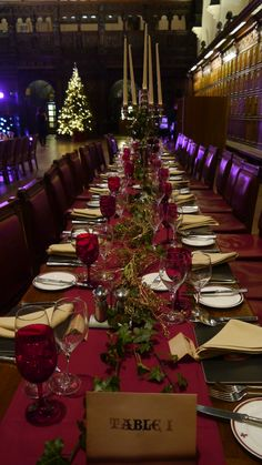 Beautifully laid tables