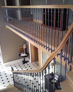 Escalier De Prestige En Bois Et Fer Forgé. Rénovation Du0027un Escalier Dans Une