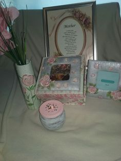 A beautiful mother's day rose theme collection. Rose Vase, Rose Pictures, Keepsake Boxes, Picture Frames, Candle Holders, Candles, Day, Beautiful, Collection