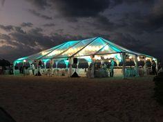 Tent Lighting – Iberostar Suites – on the beach -Jamaica Wedding DJ