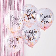 Baby Girl Baby Shower Balloons, Rose Gold and Pink Baby Girl Balloons, Mom to Be Balloons Baby-Babyparty steigt Gold und rosa Baby im Ballon auf Décoration Baby Shower, Cadeau Baby Shower, Fiesta Baby Shower, Baby Girl Shower Themes, Girl Baby Shower Decorations, Gold Baby Showers, Baby Shower Balloons, Baby Shower For Girls, 5 Balloons