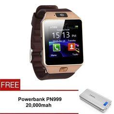 DZ09 SmartWatch (gold) FREE Powerbank PN999 20,00mah   Lazada Malaysia