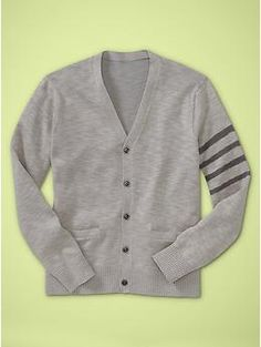 Cute embellishments to add to things. Band of stripes cardigan   Gap