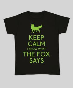 black u0027keep calm i know what the fox saysu0027 fitted tee women