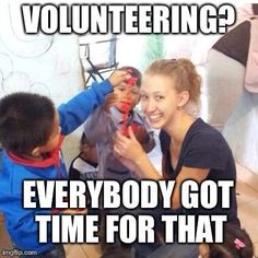 Everybody's got time to volunteer! #InitLive