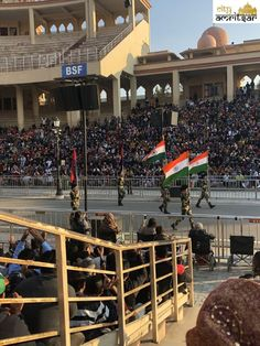 """The purpose of """"Wagah Border Retreat Ceremony"""" is to formally close the border for the night and take-off the National Flag of both the countries. Get all the information about Wagah Border- All You Need to Know. Beating Retreat, Grand Trunk Road, Maharaja Ranjit Singh, Agricultural Implements, India Pakistan Border, Ancient Buildings, Before Sunset, Amritsar"""