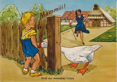 Vintage German Boy Calling For Mommy Postcard by Unknown (No Mfg. Marks), http://www.amazon.com/dp/B00DYEFH6G/ref=cm_sw_r_pi_dp_rTj5rb16KR0BB
