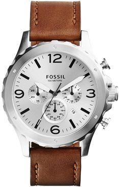Fossil JR1473 Nate Chronograph Tan