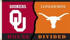 Oklahoma - Texas 3 Ft. X 5 Ft. Flag W/Grommets - Rivalry House Divided  #RePin by AT Social Media Marketing - Pinterest Marketing Specialists ATSocialMedia.co.uk