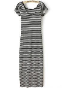 gestreepte jurk