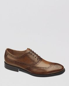 Johnston & Murphy Tyndall Leather Wingtip Oxfords