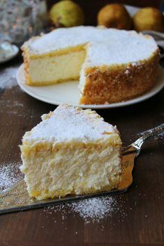 TORTA FIOCCO DI NEVE Mini Desserts, Italian Desserts, Just Desserts, Bakery Recipes, Dessert Recipes, Cooking Recipes, Torte Cake, Ricotta, Savoury Dishes