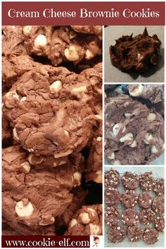 Cream Cheese Brownie Cookies: Easy Chocolate Cookie Recipe, Just 6 Ingredients - Cake Mix Cookies - - Brownie Cookies, Cake Mix Cookies, Yummy Cookies, Cookie Bars, Brownie Cake, Cupcakes, Cake Mix Cookie Recipes, Chocolate Cookie Recipes, Chocolate Cookies