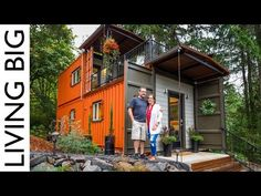 Couple Build Amazing Shipping Container Home For Debt-Free Living - Healthy Food House Building A Container Home, Container House Plans, Tiny House Living, My House, 40ft Shipping Container, Shipping Containers, Debt Free Living, Decks, Tiny Spaces