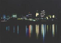 Topeka, KS : Topeka Skyline reflected in the Kansas River