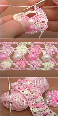 Beaded crochet patterns video tutorial 1 hour easy crochet hat pattern + video for beginners Crochet Bolero Pattern, Crochet Stitches Patterns, Beading Patterns, Bracelet Patterns, Baby Patterns, Crochet Crafts, Easy Crochet, Crochet Projects, Free Crochet