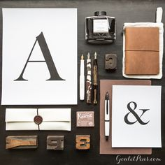 The art of arranging letters for printing takes a special creativity and creates a visually appealing and pleasing experience for all who encounter it. Stylized letters and font captivate, inspire, and carry writing to a greater, deeper resonance. The same could definitely be said for writing with a great pen and ink!