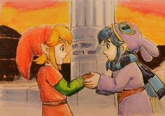 The legend of Zelda 3DS fan art - Link and Ravio
