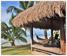 A beach hut in the Maldives