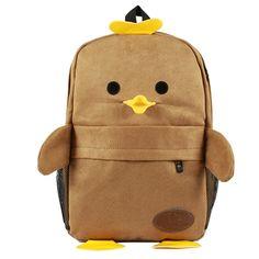 Cute Cartoon Smile Duck Backpack Schooling Bag