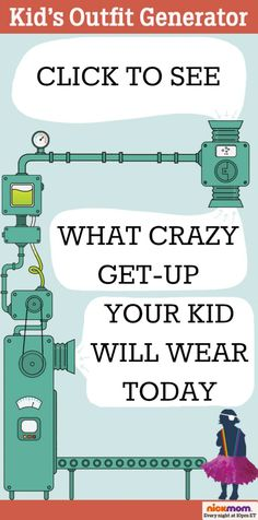 Tired of Picking Your Kid's Outfits? Try This Handy Generator Instead by @letmestart on @NickMom #parenting #kids #humor #fashion