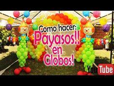 Como hacer UN PAYASO grande en GLOBOS!! / how to make balloon clown - YouTube