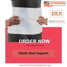 Elastic Back Support  Elastic back support brace is a lightweight product by united ortho brand. For back pain or injuries this elastic back support back pain reliever is very useful. This is specially designed to reduce the risk of injury and back strain.  Please click if you want to know more about this product and order now: https://goo.gl/7wL1yb