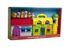 Juguete de granja con animalitos, marca Happy Farm.