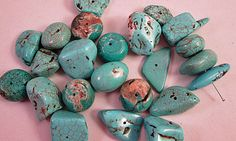 Close Out Beads Blue Dyed Turquoise Odd Lot Chunky by FLcowgirls, $3.08