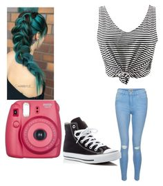 """""""Untitled #108"""" by elesedunn on Polyvore featuring New Look and Converse"""