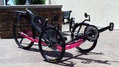 Off-road Venom 26 from Utah Trikes in Neon Pink! #recumbent #trike