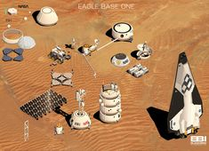 Blackbird Interactive, developers of the excellent Deserts of Kharak, have teamed up with NASA's Jet Propulsion Laboratory to create an interactive tour of a concept Mars base. Spaceship Design, Spaceship Concept, Mars Project, Cyberpunk, Space Opera, Futuristic Robot, Game Design, Design Lab, Lego Projects