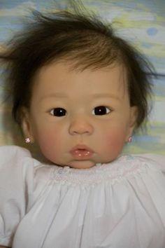 Custom Order Asian Baby Girl Eleanor Anne Wai Ling by Laura Tuzio-Ross