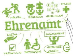 Vektor: Ehrenamt Konzept Ehrenamtliches Engagement, Educational Programs, Biology, Psychology, Coaching, Kindergarten, Comics, Ea, Purpose