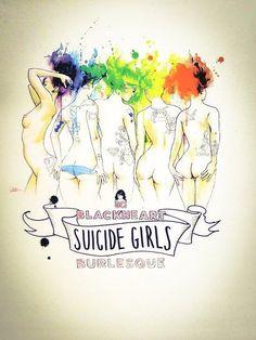 Suicide Girls Blackheart Burlesque Tour by Lora Zombie 18x24