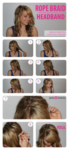 Easy Hair DIY: Rope Braid Headband #hairtutorial #diy #gorgeoushair #casualhair #upstyle #updo #weddinghair #hairstyles #hairstyle #easy #beautifulhairstyle #sexyhair #weddinghair #hairinspiration #hair #hairsalon #besthairsalon #indianapolis www.gmichaelsalon.com#hairtutorial