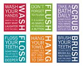 Bathroom Rules prints