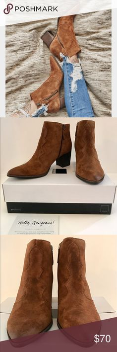 🆕 Dolce Vita Lennon Western Booties Boots Acorn New in box 📦 gorgeous Dolce Vita 'Lennon' booties in shade 'Acorn Suede.' Size 9.5 M. Pictures 2-5 actual product photos. Retail for $160! Make me an offer! 🤝 🙂 Dolce Vita Shoes Ankle Boots & Booties