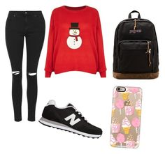 """Geen titel #8"" by xoirisjeexo on Polyvore featuring mode, Brave Soul, Topshop, New Balance, Casetify en JanSport"