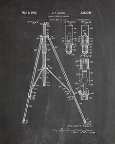 Camera Tripod Patent Print - IndustrialPrints