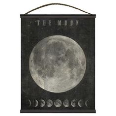 Indulge in cosmic style in the sunroom or library with this classic canvas tapestry, featuring a print of the moon complete with a diagram of its cycle....