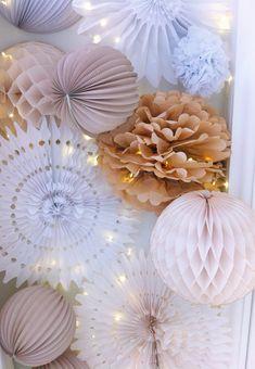 paper lanterns, pastel event decor, nude wedding decor, wedding decor, paper decorations, nude palette