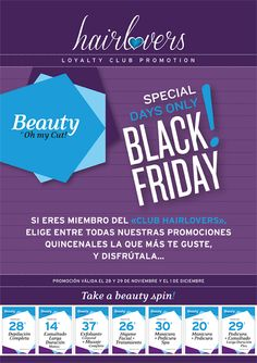 Black Friday también en Beauty! sólo para HairLovers... disfrutas de nuestra súper promoción en nuestros salones Hair & Beauty de Oh my Cut!  Enjoy BFriday!   #beauty #blackfriday