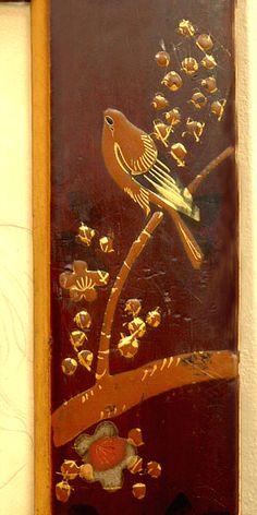 Original Japanese lacquer frame-detail